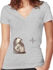 Korteef Wall Women's Fitted V-Neck T-Shirt