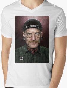 xWALTER WHITEx Mens V-Neck T-Shirt