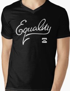 Equality - White Mens V-Neck T-Shirt