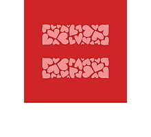 marriage equality symbol Photographic Print