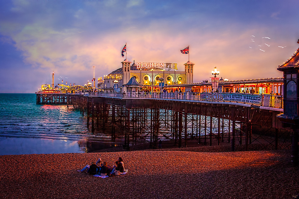 Brighton's Palace Pier at Dusk by Chris Lord