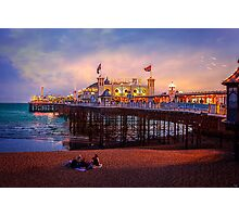 Brighton's Palace Pier at Dusk Photographic Print
