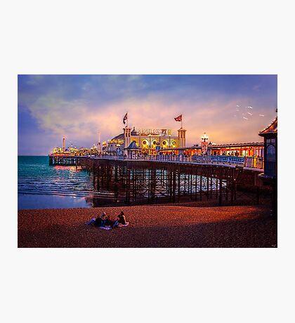 Brighton's Palace Pier at Dusk Photographic Print