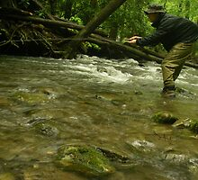 Rainy Day Fly Fishing by Chad Burrall