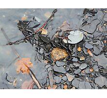 Vermillion River Gravel Photographic Print