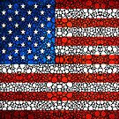 American Flag - USA Stone Rock&#x27;d Art United States Of America by Sharon Cummings