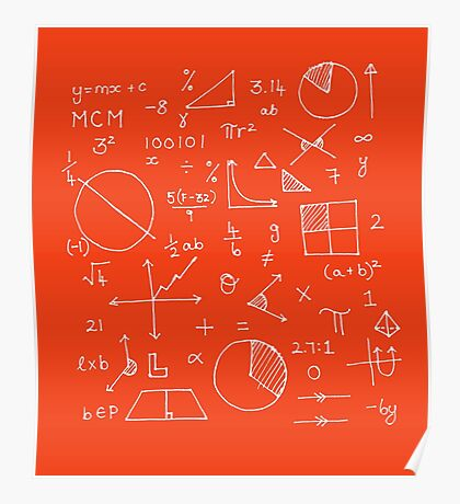 Math formulae (red) Poster