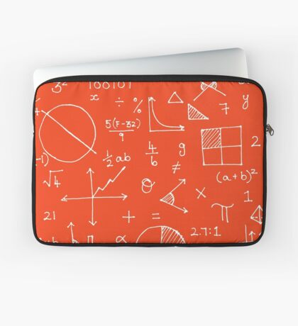 Math formulae (red) Laptop Sleeve