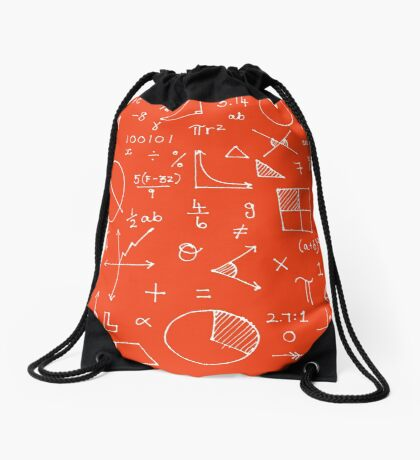 Math formulae (red) Drawstring Bag
