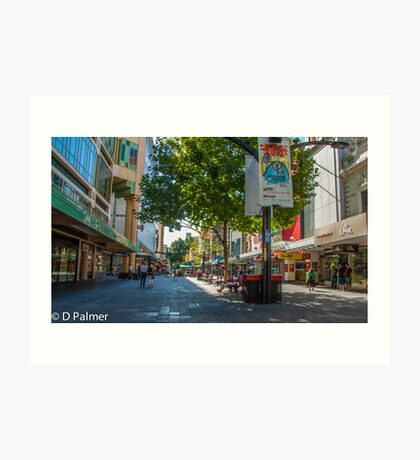 Rundle Mall - Looking along the Rundle Mall Art Print