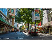 Rundle Mall - Looking along the Rundle Mall Photographic Print