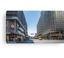 Rundle Mall - Looking East along Rundle Street.  Canvas Print