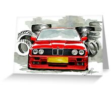 BMW M3 E30 Greeting Card