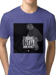 Dank Memes ( PEPE ) Tri-blend T-Shirt