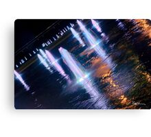 Manchester's Neon Fountains Canvas Print