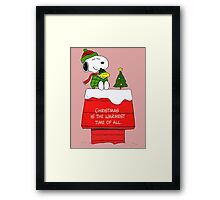 Best Friend Peanuts Snoopy and Woodstock Framed Print
