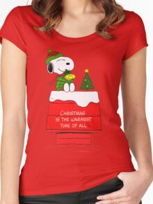 Best Friend Peanuts Snoopy and Woodstock Women's Fitted Scoop T-Shirt