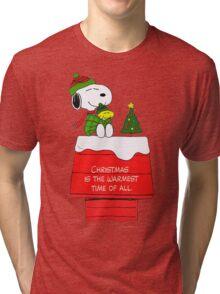 Best Friend Peanuts Snoopy and Woodstock Tri-blend T-Shirt