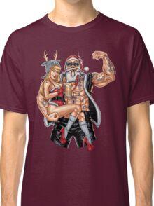 Strong Santa Claus X-Mas Pin Up Muscle RAHMENLOS Classic T-Shirt