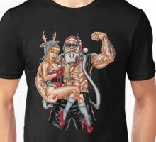 Strong Santa Claus X-Mas Pin Up Muscle RAHMENLOS Unisex T-Shirt