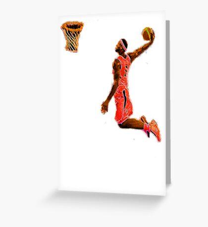 Basketball Dunk Greeting Card
