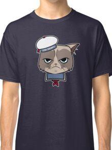 Stay Grumpy The Marshmallow Cat Classic T-Shirt