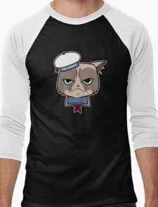 Stay Grumpy The Marshmallow Cat Men's Baseball ¾ T-Shirt
