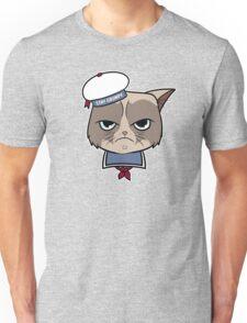 Stay Grumpy The Marshmallow Cat Unisex T-Shirt