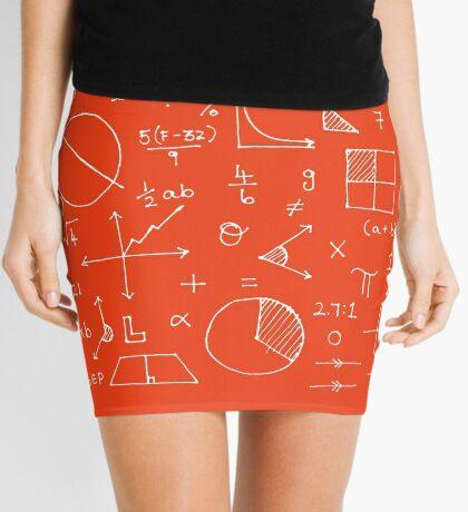 Math formulae (red) Mini Skirt