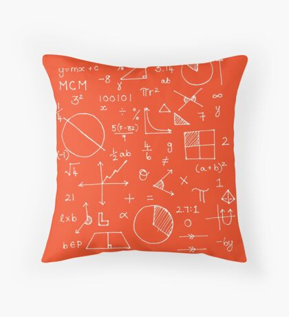 Math formulae (red) Throw Pillow