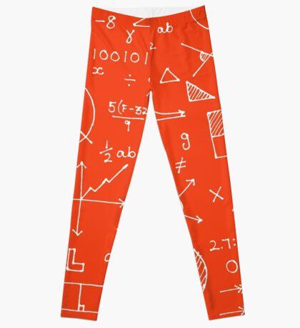 Math formulae (red) Leggings