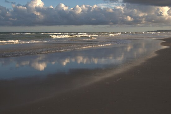 Peregian Beach reflections 1 by Morag Anderson