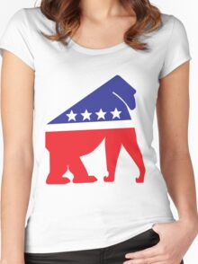 Gorilla Party! Women's Fitted Scoop T-Shirt