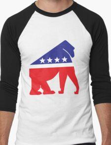 Gorilla Party! Men's Baseball ¾ T-Shirt