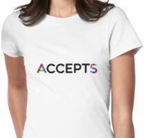 AcceptS - accept AS Womens Fitted T-Shirt