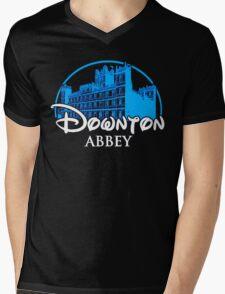 Downton Abbey Castle Mens V-Neck T-Shirt