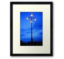 Reality Checkpoint lampost at dusk Framed Print
