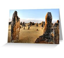 Close of Day - Pinnacles Western Australia Greeting Card