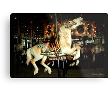Beautiful Horse on the Carousel Metal Print