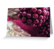 Abstract Holidays Series 11: Berries and Gold Leaves Greeting Card