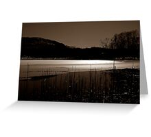 Winter Ponds  Greeting Card