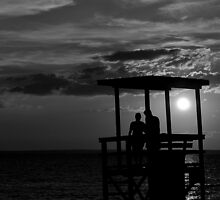 Sunset Beach B&W  by Pacovina
