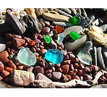 Seaglass Art Prints Coastal Beach Rocks Photographic Print