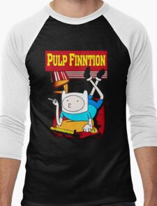 Funny Pulp Finntion Adventure Time Men's Baseball ¾ T-Shirt