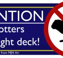 NO Otters in the Flight Deck! Sticker