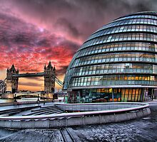 City Hall and Tower Bridge - HDR by Colin J Williams Photography