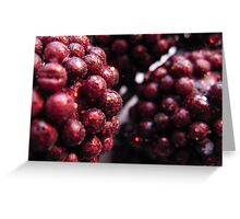 Abstract Holidays Series 03: Burgundy Berries Greeting Card