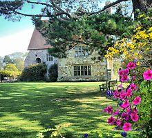 Michelham Priory,,, Flowers by Larry Lingard-Davis