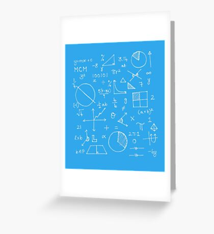 Math formulae (blue) Greeting Card