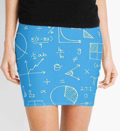 Math formulae (blue) Mini Skirt